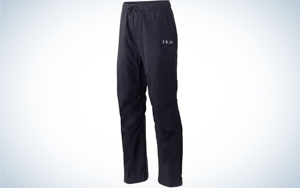 A pair of long pants and black color.