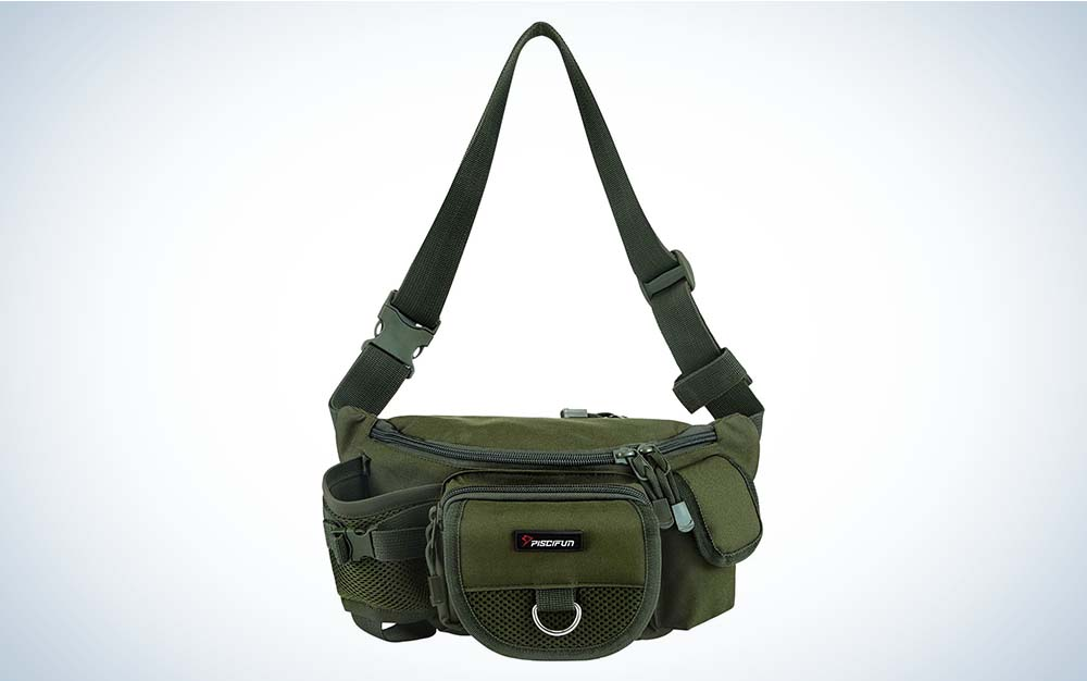 Piscifun HipPack is our pick for the best fishing backpacks.