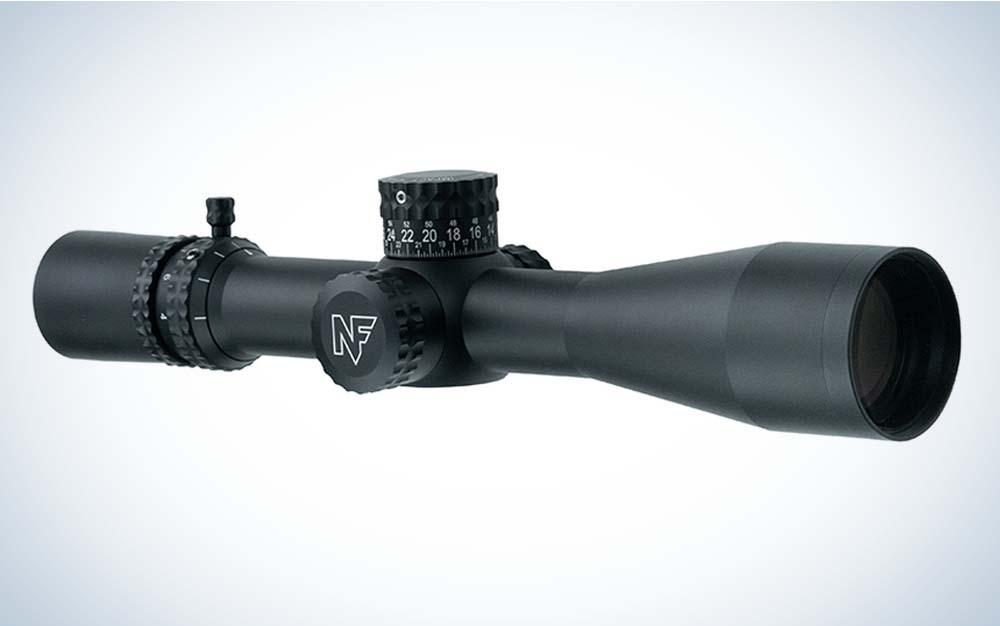A black Nightforce scope