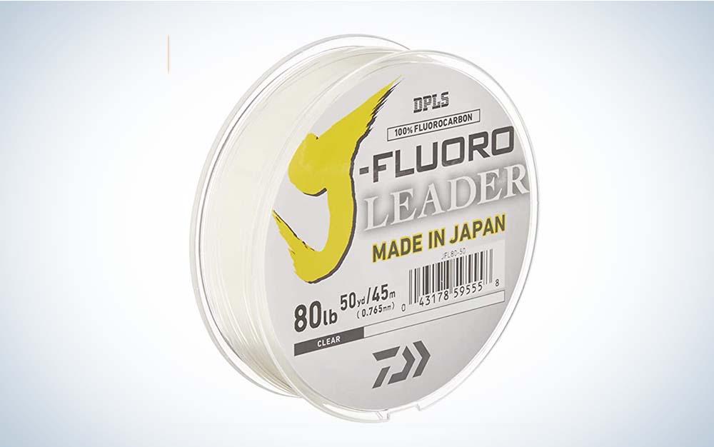 Daiwa J-Fluoro Fluorocarbon Leader fishing line white packaging