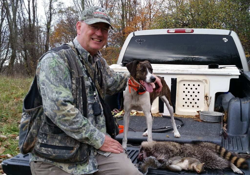 Larry case with this dog Dotzie.