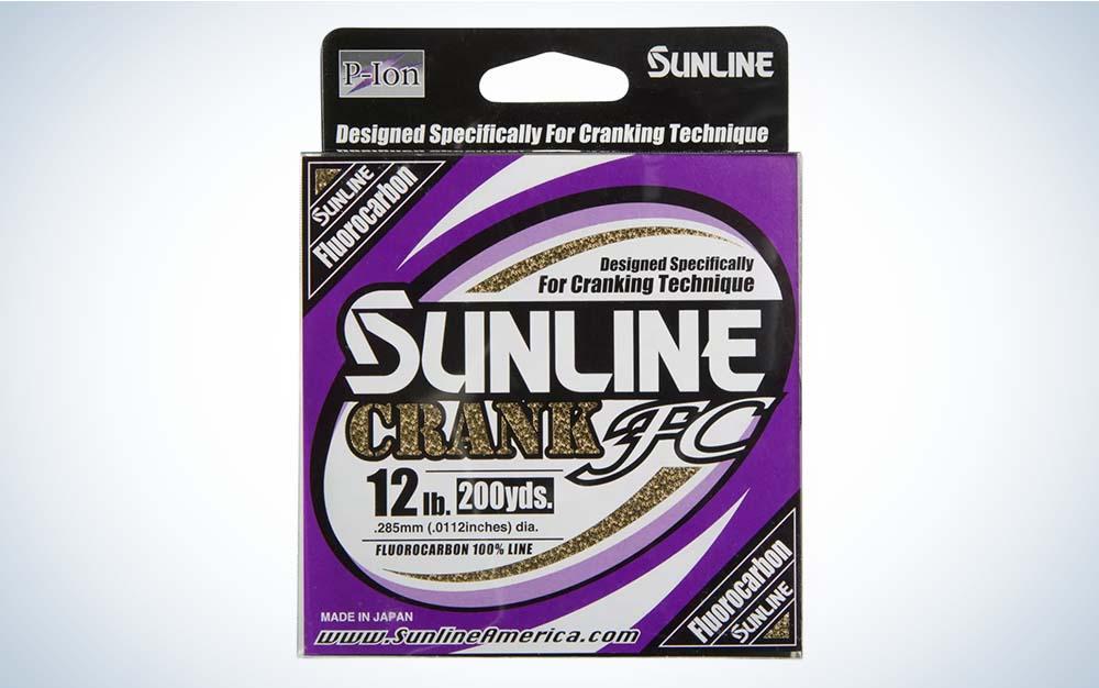 Purple Sunline Crank FC fishing line packaging