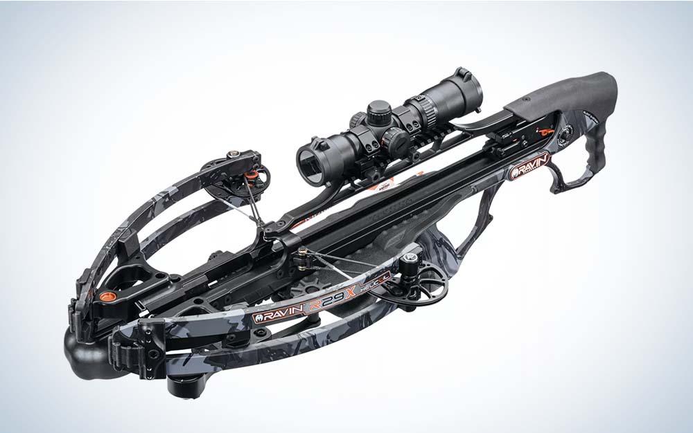 A black Ravin R29X crossbow