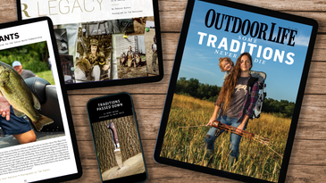 The new traditions issue of outdoor life magazine.