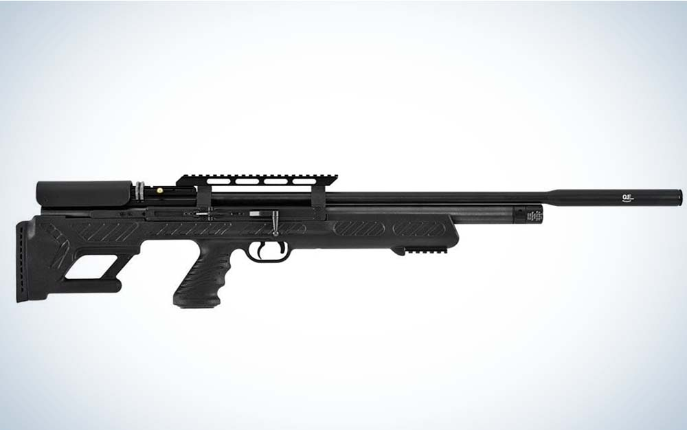 A black Hatsan BullBoss airgun