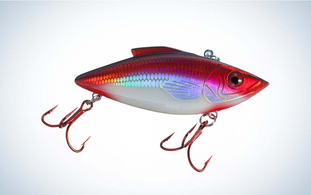 A red Rat L Trap lure