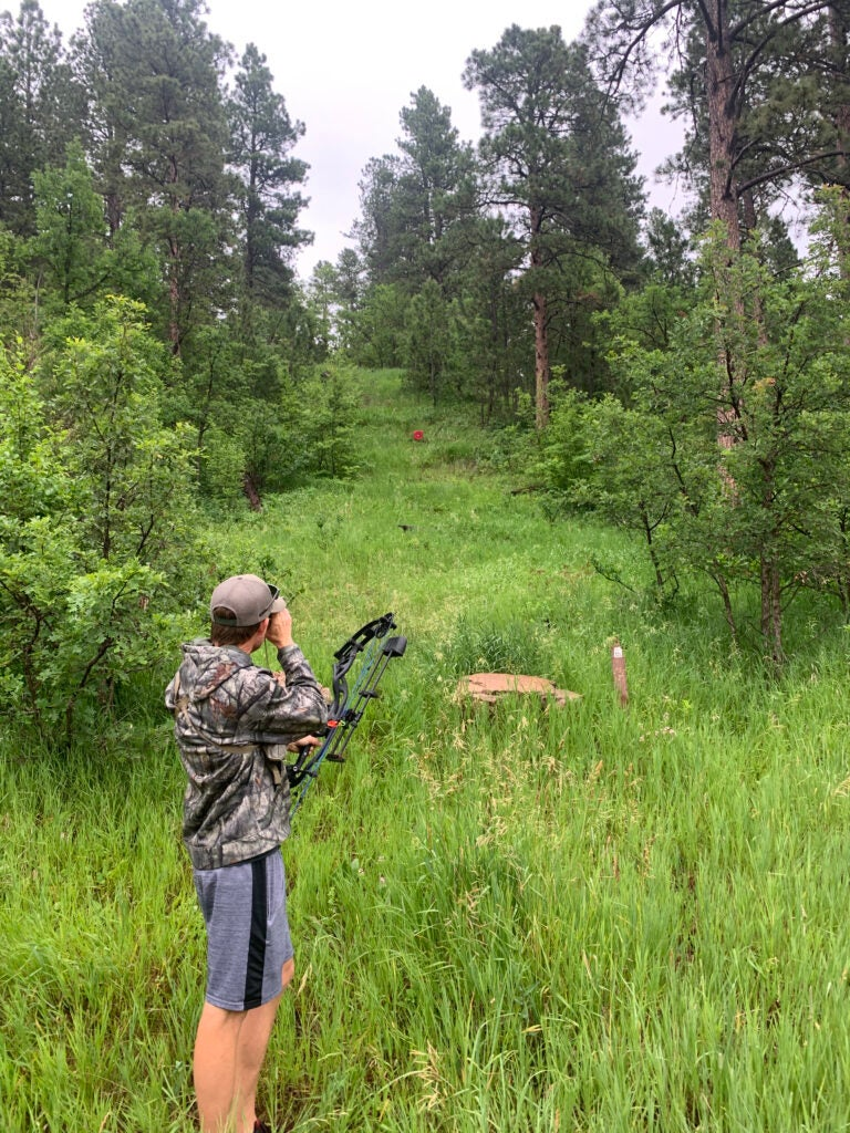 Ranging steep angles is important for bowhunting shots in steep country
