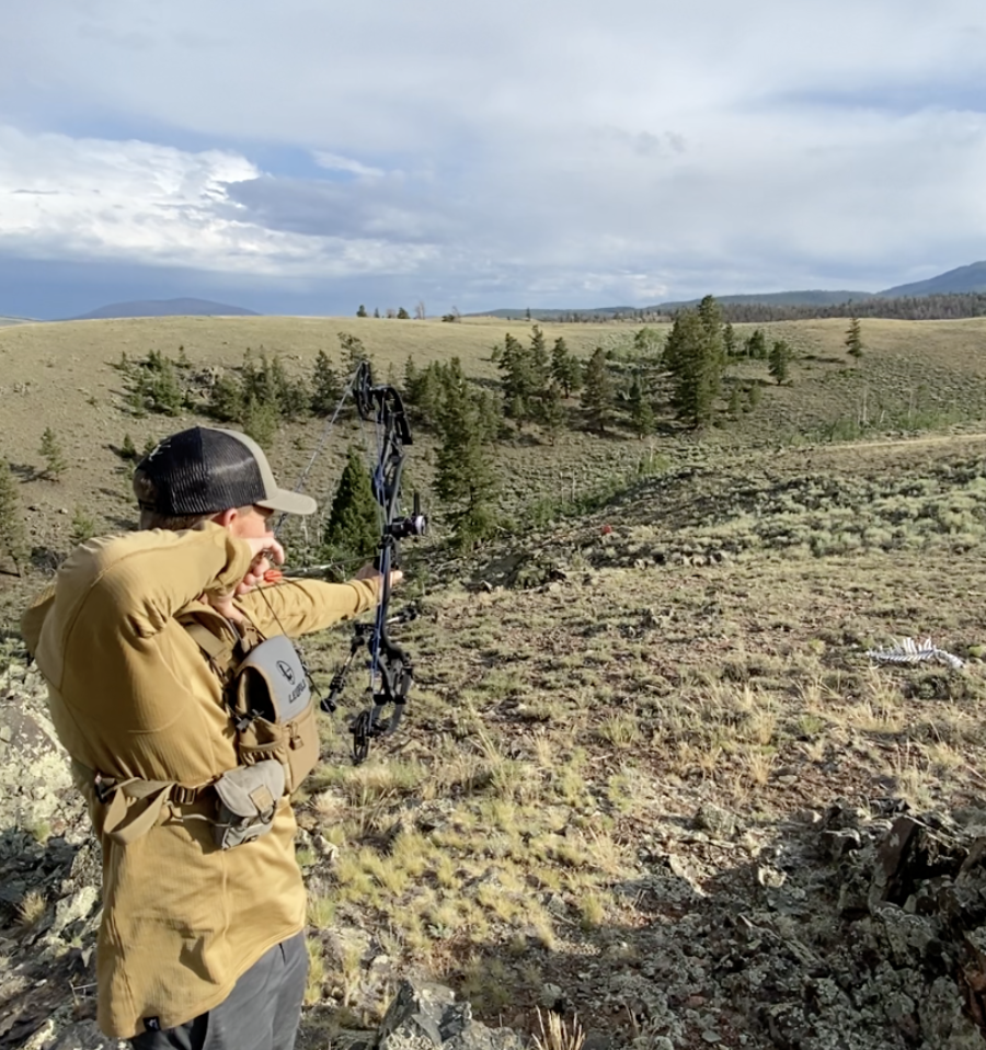 Practice important bowhunting shots where you'll actually be hunting.