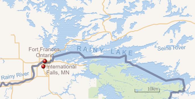 rainy lake map