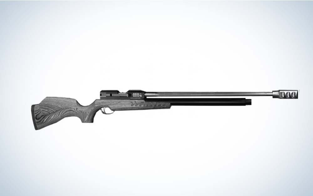 Black and grey AEA Zeus air rifle