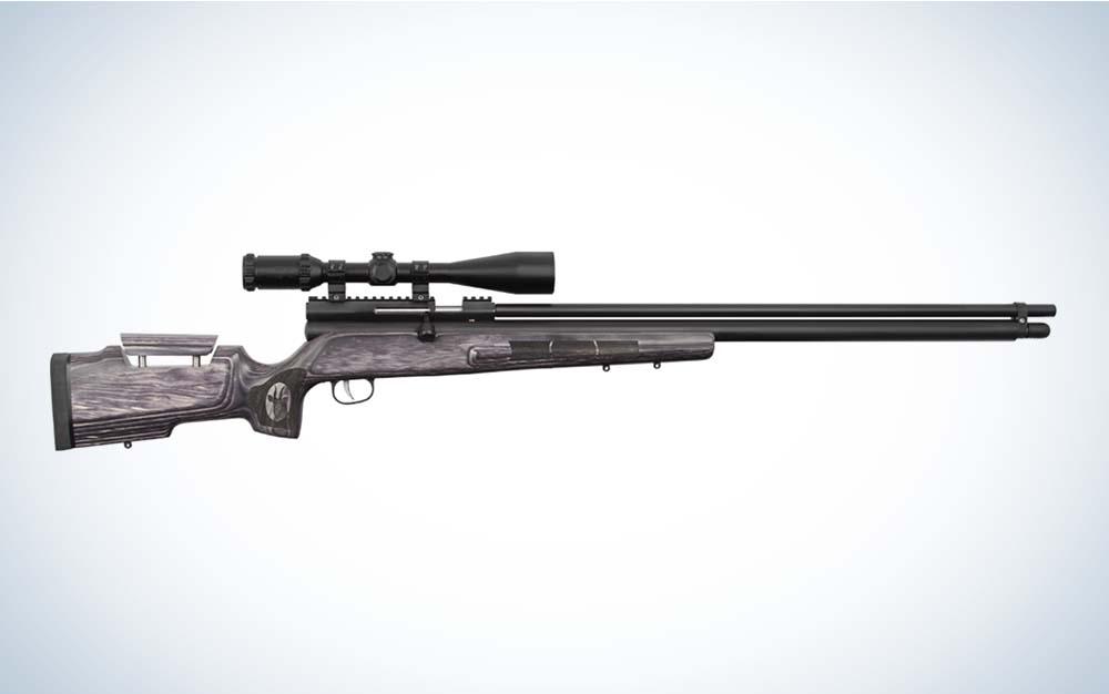 A black Airguns of Arizona Bushbuck air rifle