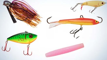 A collage of the best fall bass lures