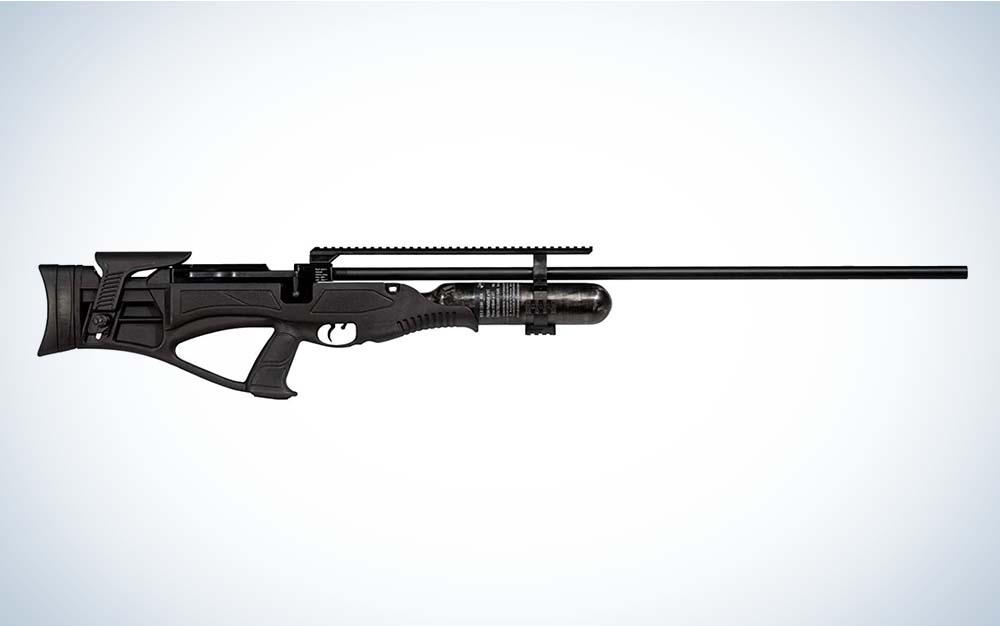 A black Hatsan Piledriver air rifle