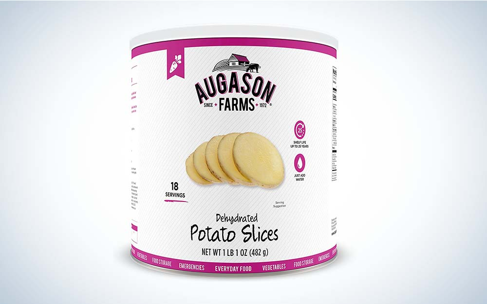 Augason dehydrated potatoes are the best survival food.
