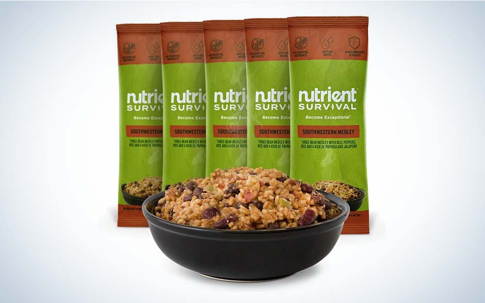 Green Nutrient Survival Southwester Medley meal packets are the best survival food.