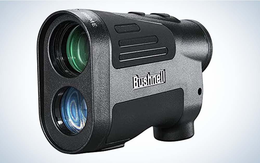 A grey Bushnell Prime rangefinder