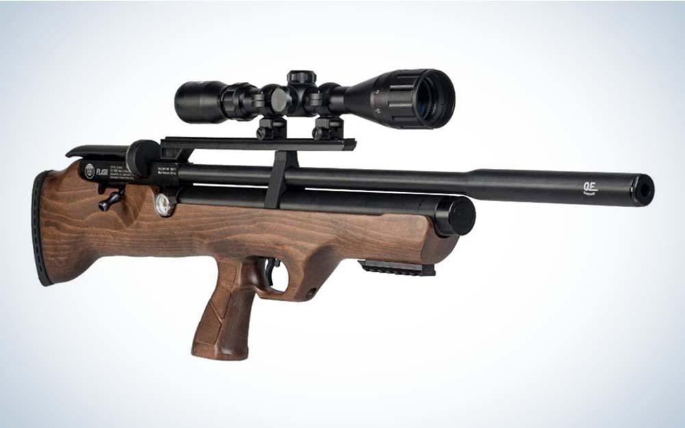 A brown and black flashpup Hatsan FlashPup air gun