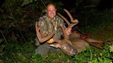 Joe Lacefield's velvet buck from Kentucky.