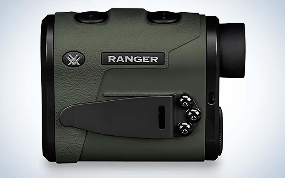 A green Vortex Ranger 1800 rangefinder