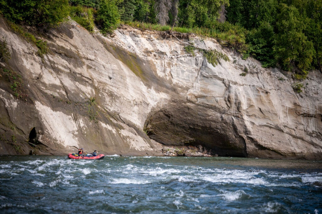 Whitewater rapids on a little known river in Alaska.