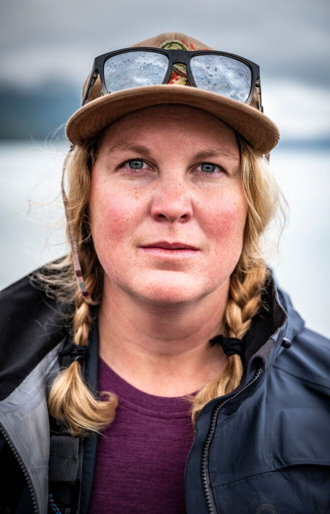 A portrait of a whitewater paddler in Alaska.