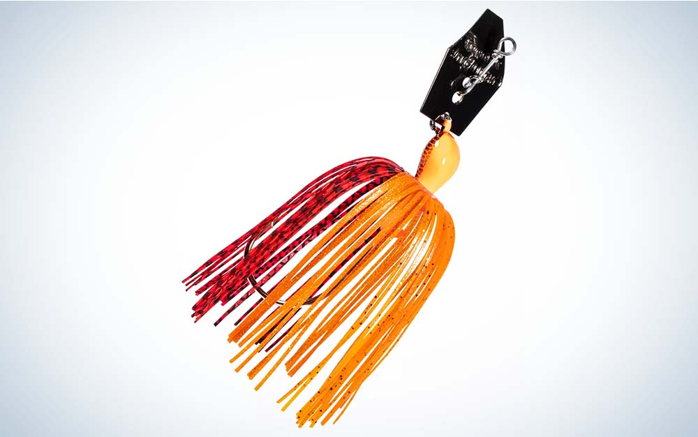 An orange and yellow lure