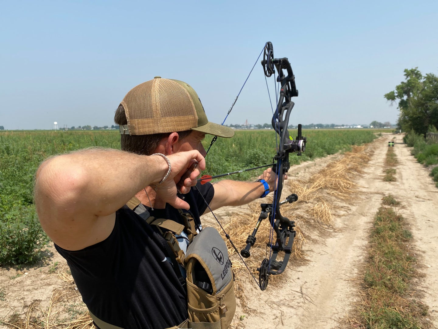 Practice shooting your bow a lot to become more accurate.