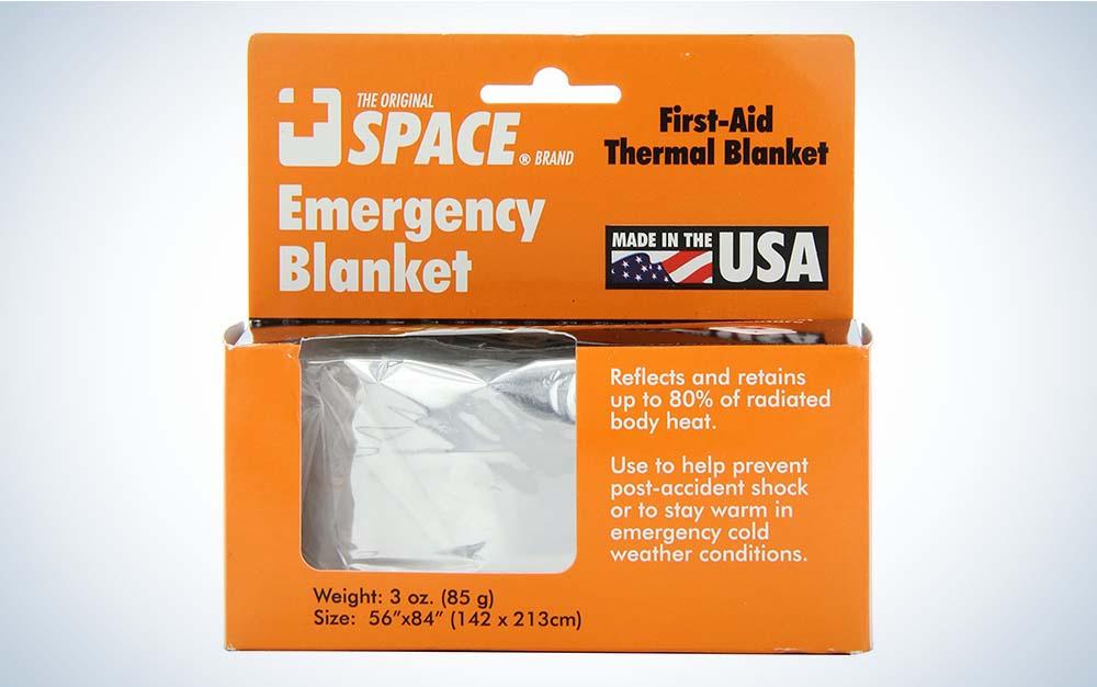 The Grabber Emergency Space Blanket is the best emergency blanket.