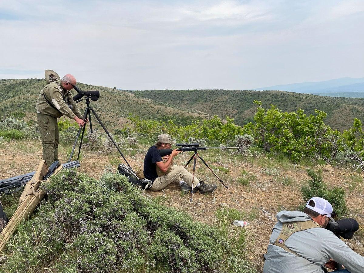 Long range shooting in the field