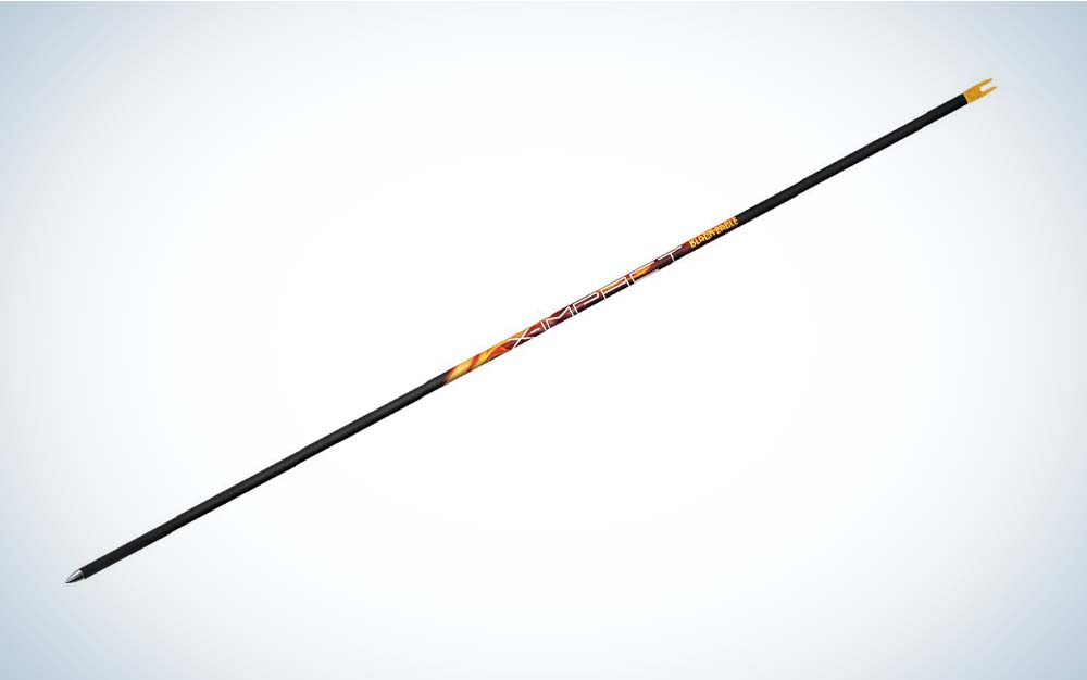A black Black Eagle X Impact arrow