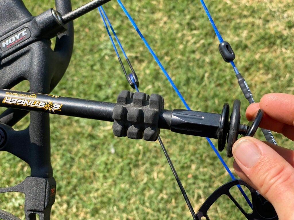 Stabilizers come with weights so you can find the best balance for your bow.