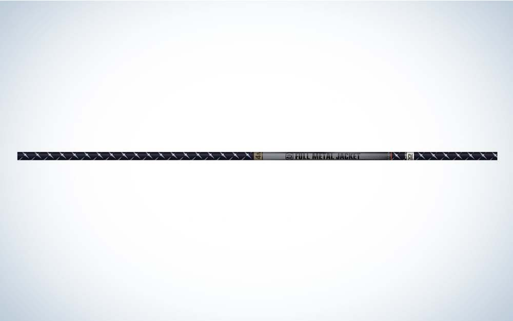 A black and grey Easton FMJ arrow