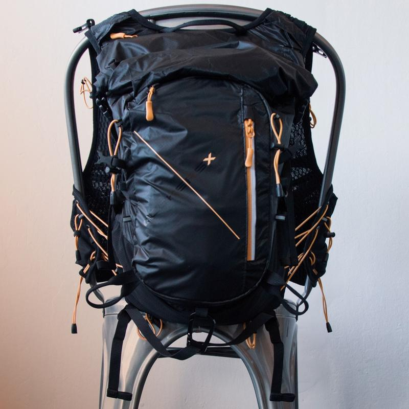 Black Deckers X Lab NVRSTP backpack with pink zippers