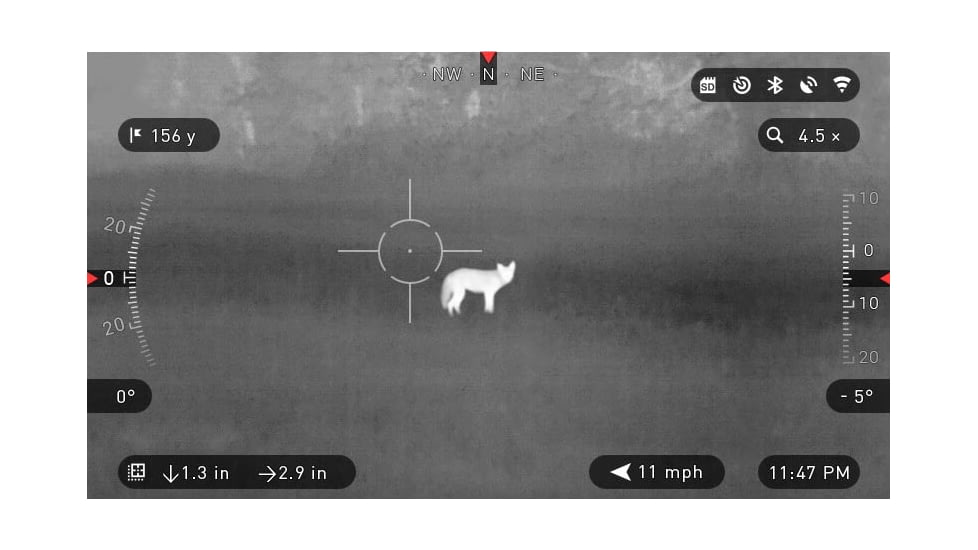 Thermal scope view.