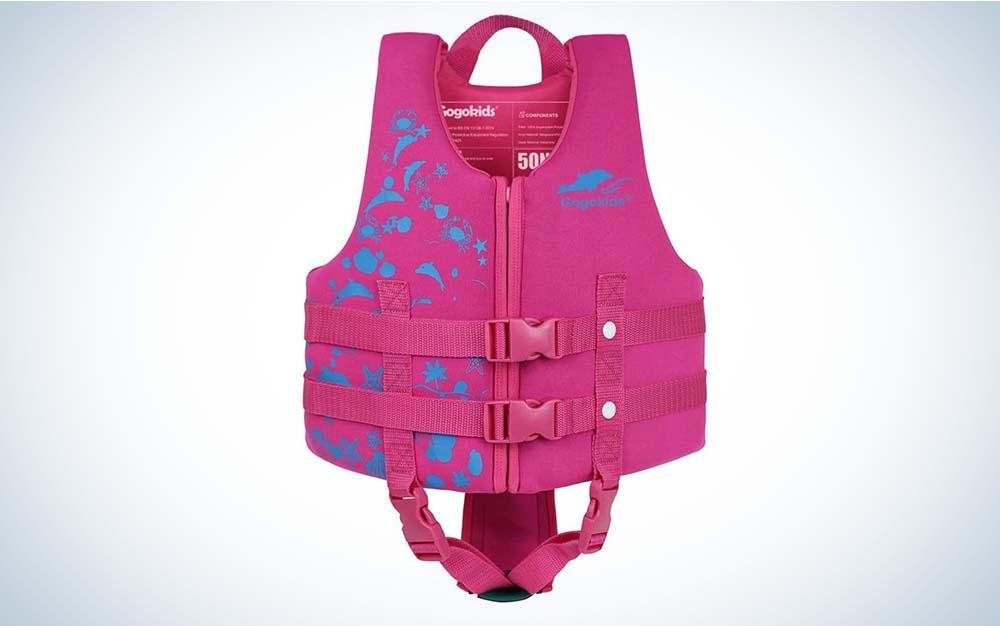 GogoKids swim vest is the best life jacket.