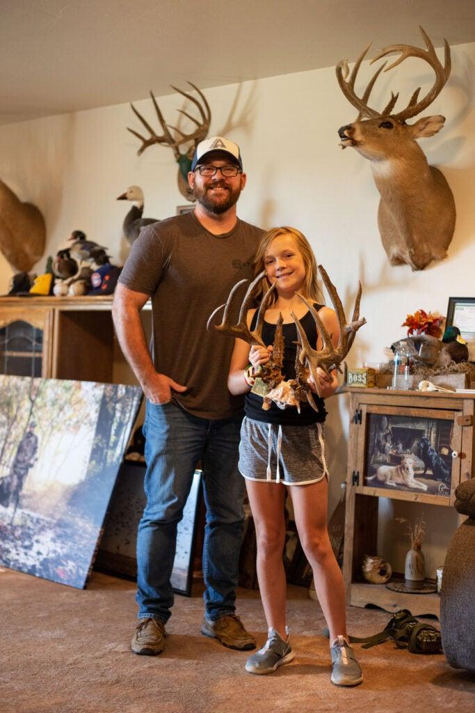 Ella with her dad Cody Perkins.