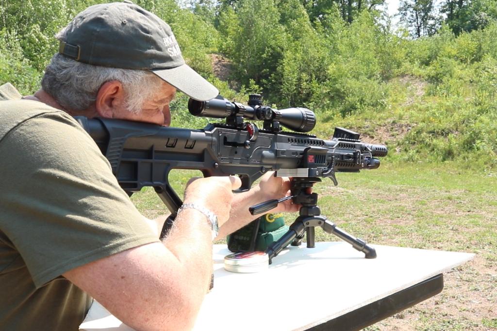 Man shooting Hatsan Invader