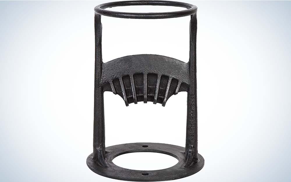 A grey iron log splitter