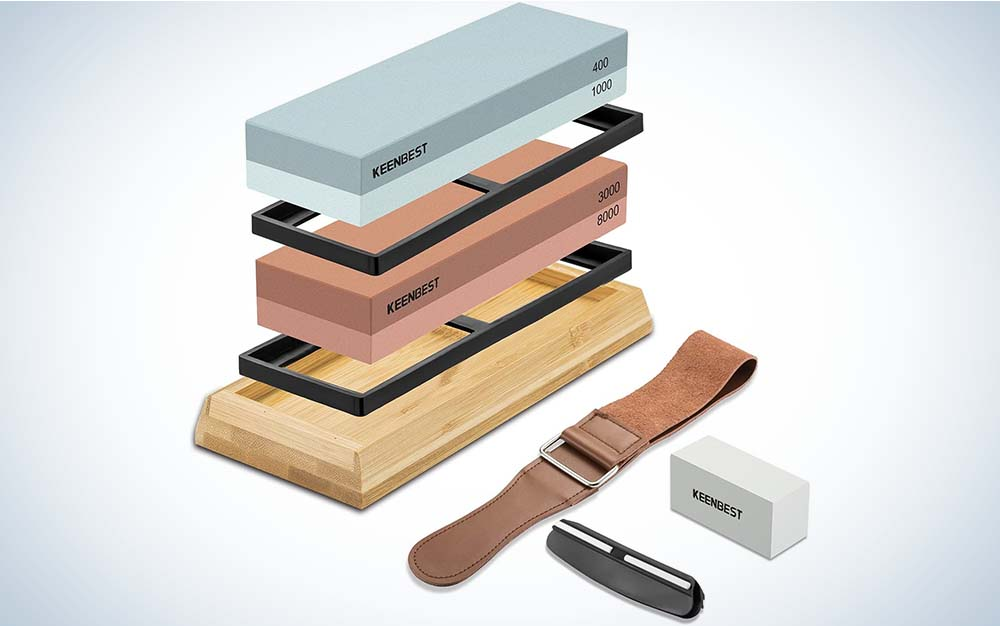Keenbest Whetstone is our pick for the best sharpening stone.