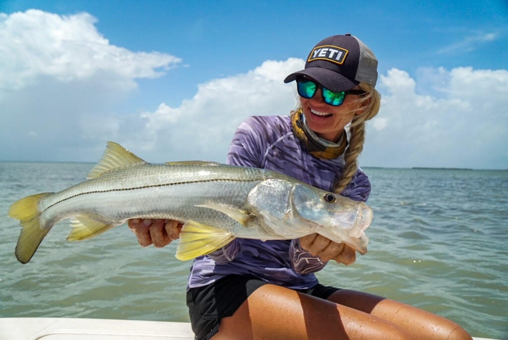 Catch snook on live or artificial baits.
