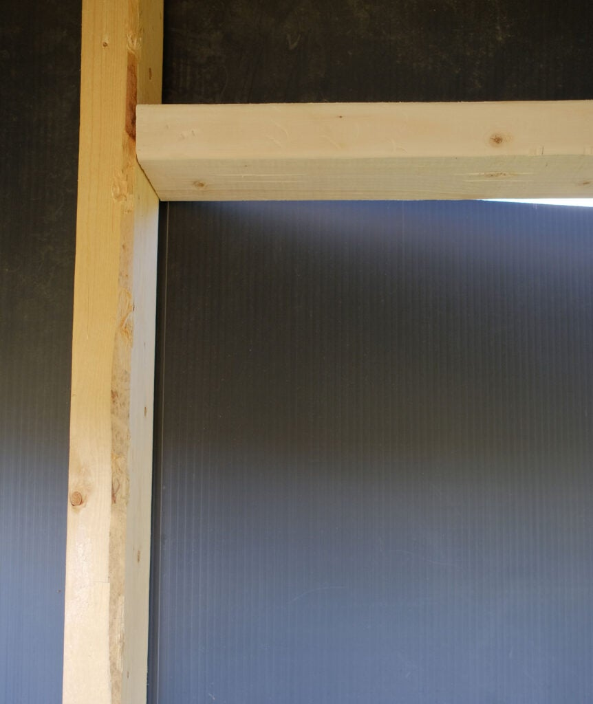 corrugated plastic door