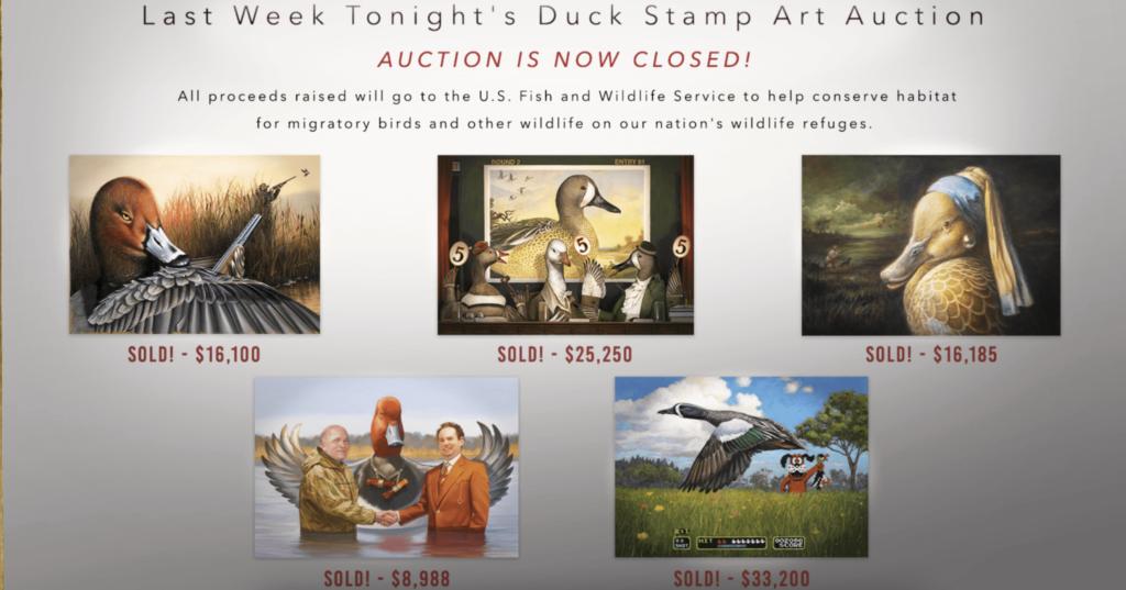 duck stamp contest entries joke