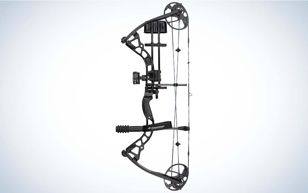 A black Infinite Edge Pro compound bow