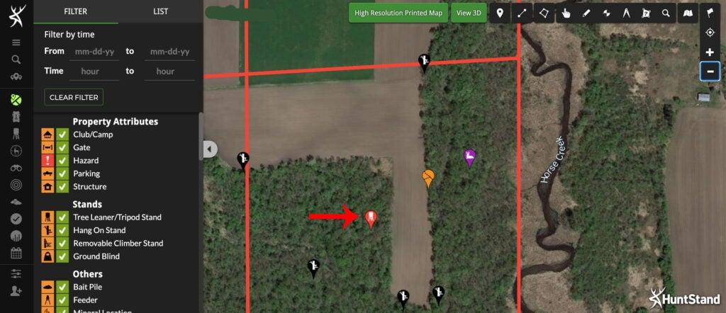huntstand mapping