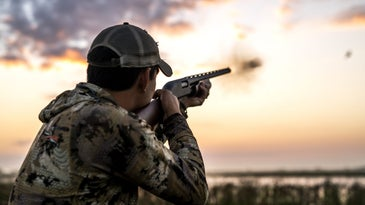 Remington 870 shooting at a duck
